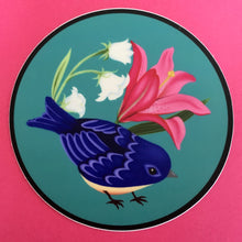 "Blue Bird Circle Sticker (3"")"