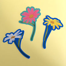 "Yellow Daisy Die Cut Sticker (3"" or 4"")"