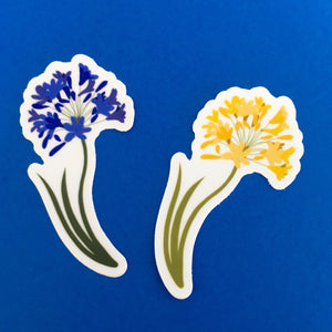"Yellow Allium Die Cut Sticker (3"")"