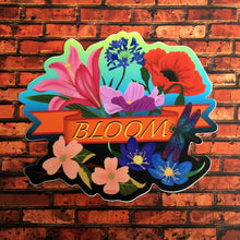 "BLOOM Die Cut Sticker (Orange Banner, 5"")"