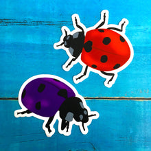 "Purple Ladybug Die Cut Sticker (3"")"