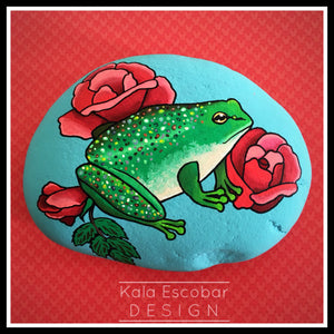 Frog and Roses Rock