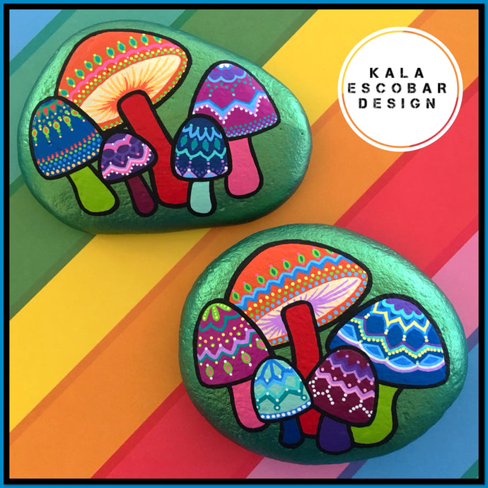 Mandala Mushrooms Rock