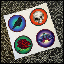 "Dark Imagination Circle Stickers (1.5"")"