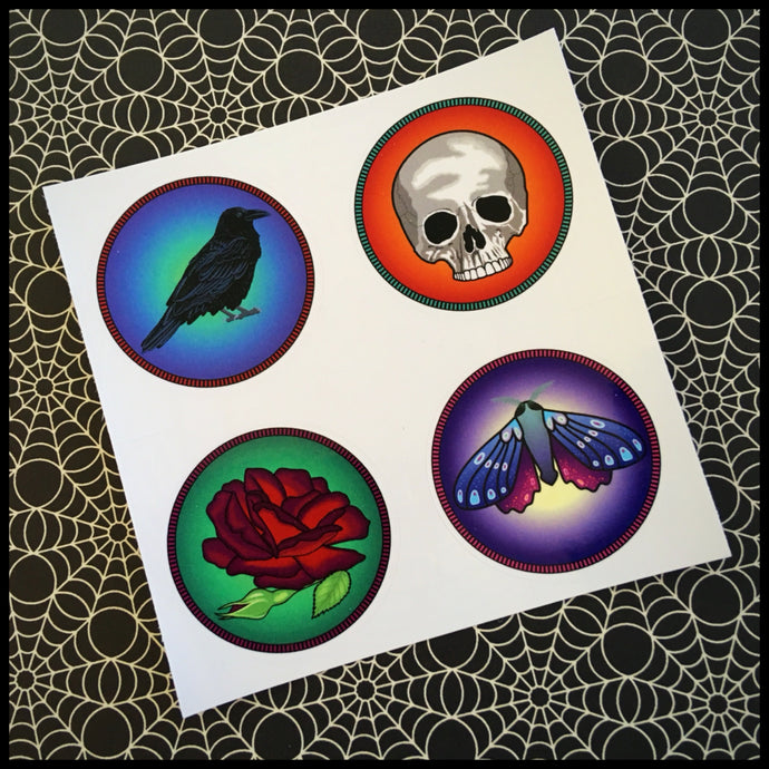 Dark Imagination Circle Stickers (1.5