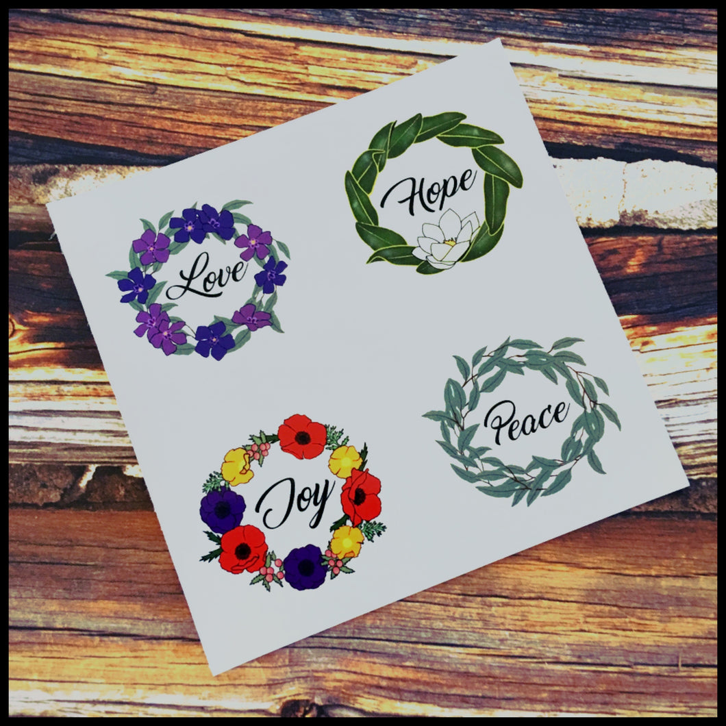 Affirmation Circle Stickers (1.5