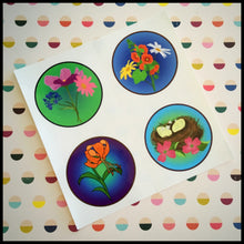 "Floral Whimsy Circle Stickers (1.5"")"