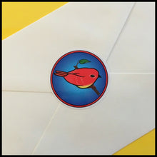 "Colorful Songbird Circle Stickers (1.5"")"