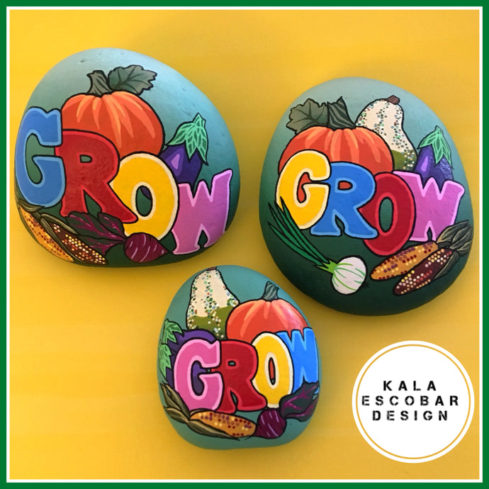 GROW Garden Harvest Rocks