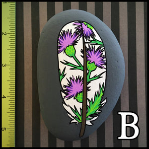 Mod Floral Feather Rocks