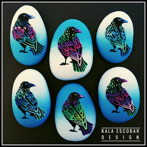 Colorful Crow Rocks