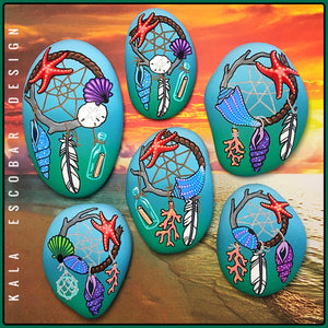 Nautical Dream Catcher Rocks (Series II)