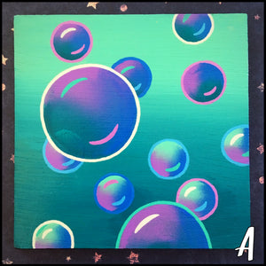 "Small Bubble Paintings (4"")"
