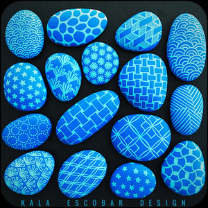 Pattern Play Rocks (Blue)