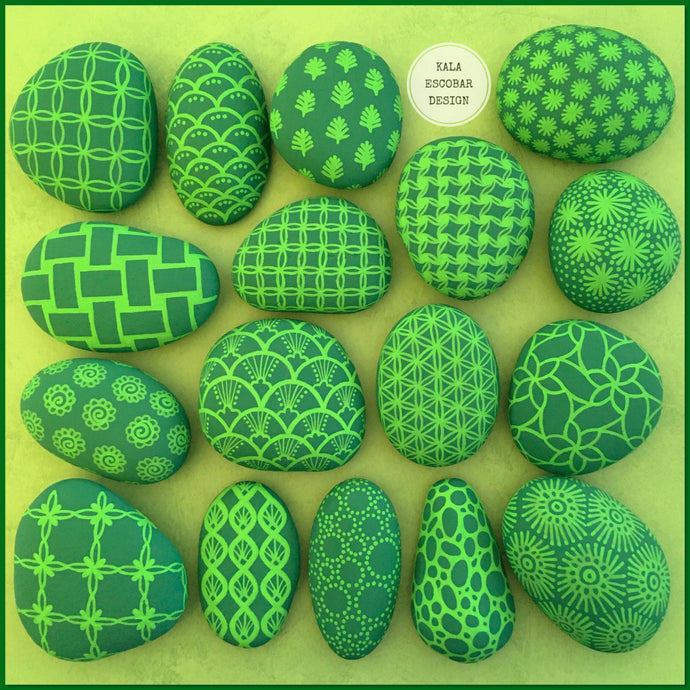 Pattern Play Rocks (Green)