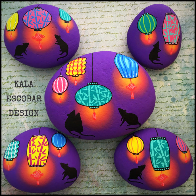 Year of the Rat Rocks (Purple)