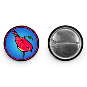 "Red Bird of Happiness Button (1"" Round)"