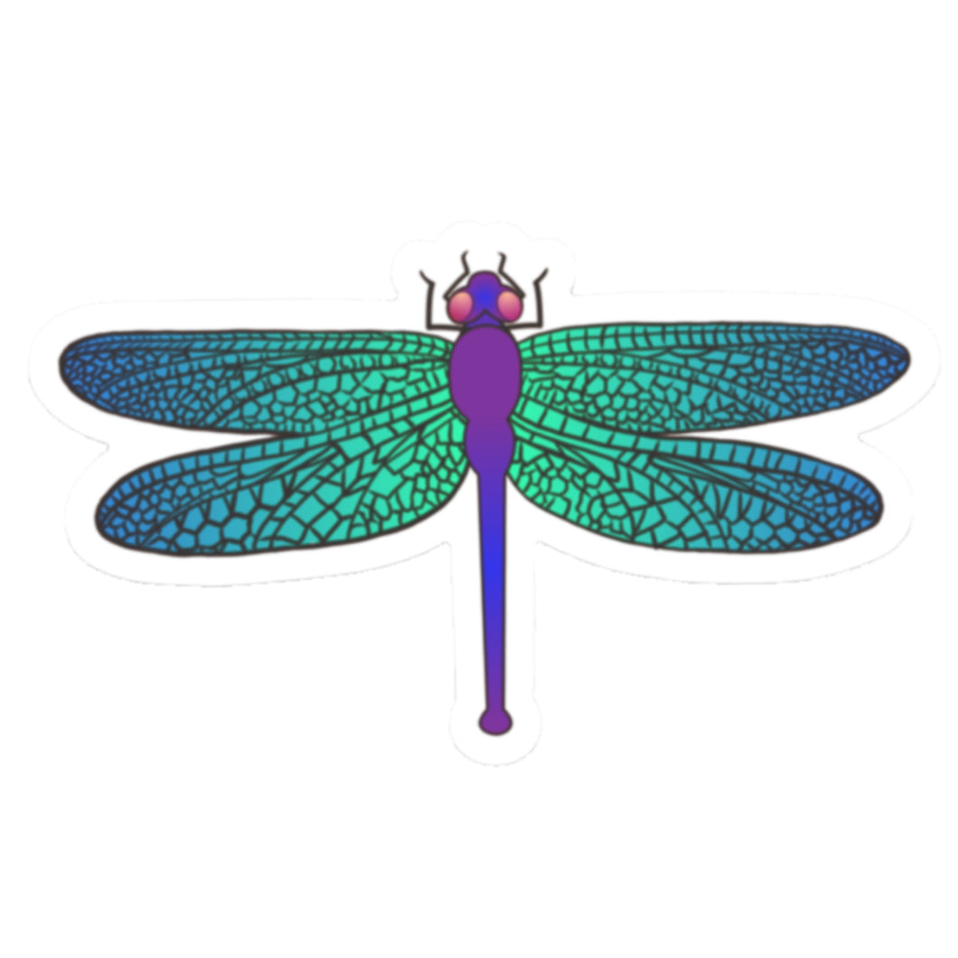 Blue Dragonfly Die Cut Sticker (3