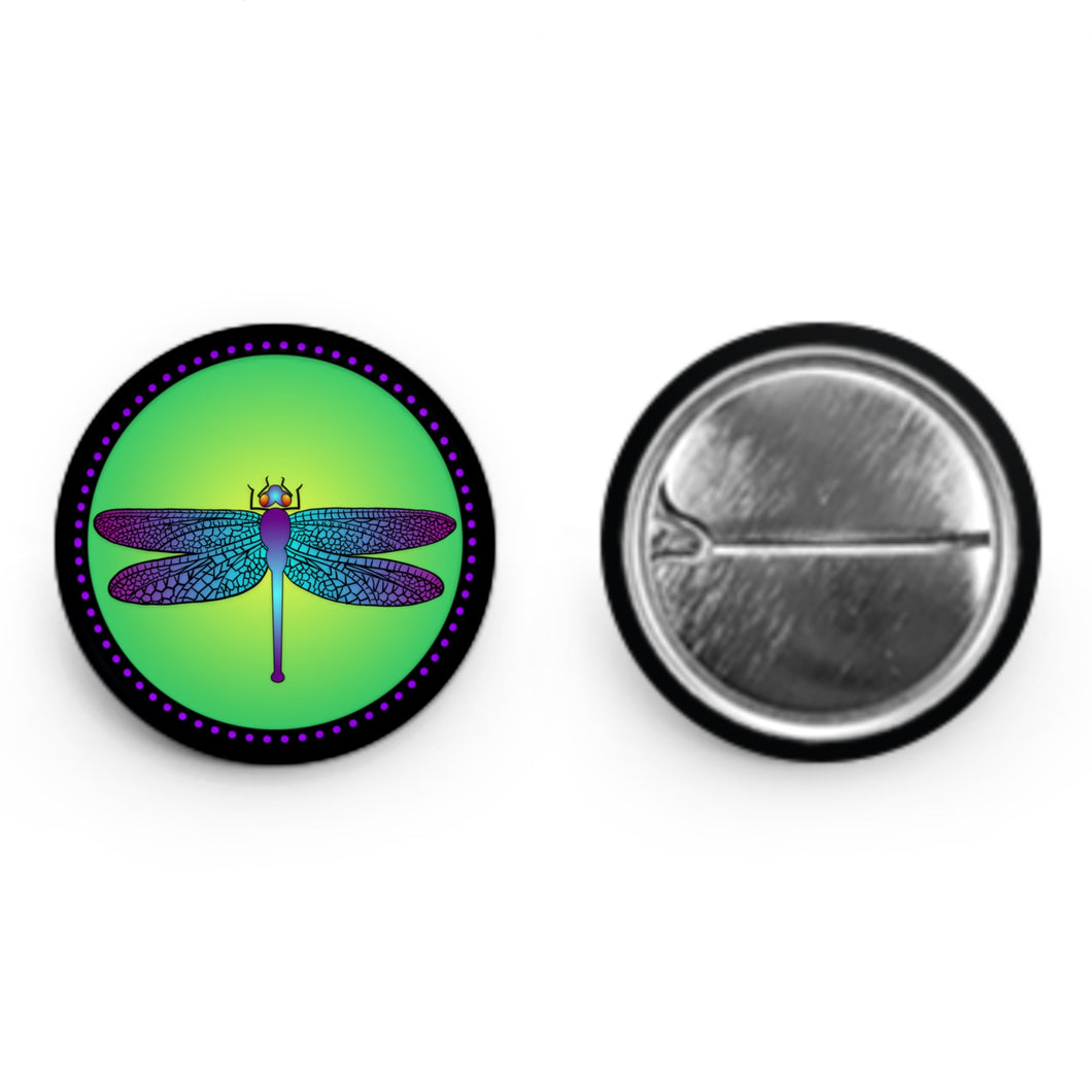 Bright Dragonfly Button (1