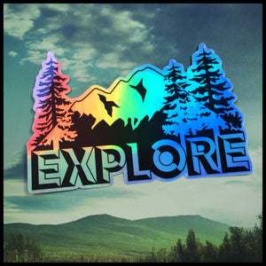 "EXPLORE Holographic Sticker (4"")"