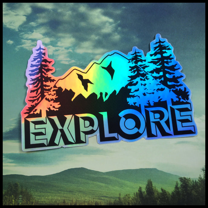 EXPLORE Holographic Sticker (4