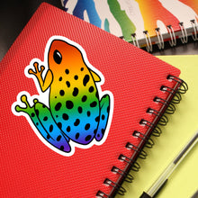 "Frog Die Cut Sticker (4"", Rainbow)"