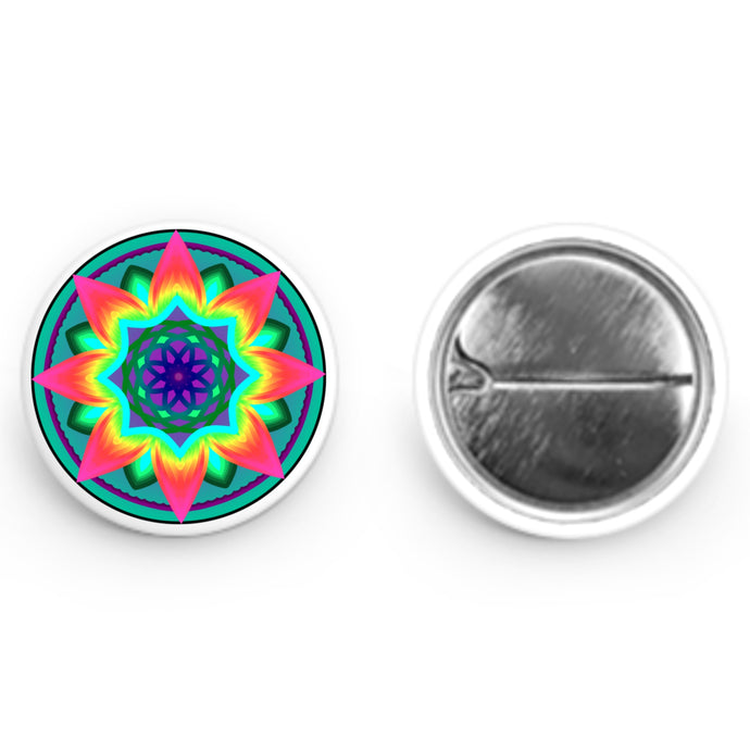 Colorful Mandala Button (1