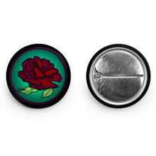 "Dark Rose Button (1"" Round)"