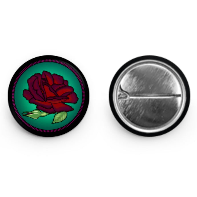 Dark Rose Button (1