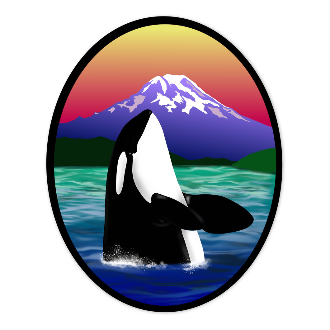 Orca Spyhop Oval Stickers (3