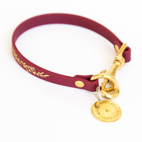 Wine & Gold House Collar