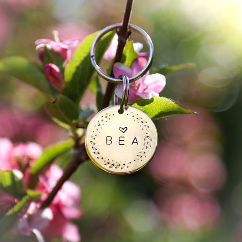 Gold Coin Personalised ID Tag