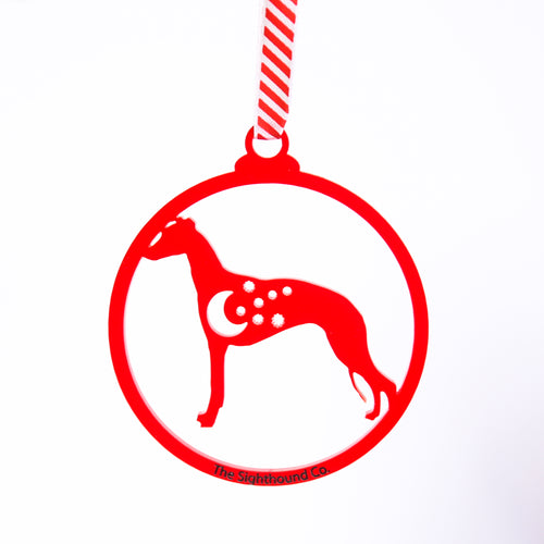 Starry Night Sighthound Christmas 2019 Ornament
