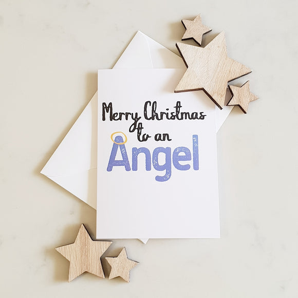 Merry Christmas to an Angel Christmas Card