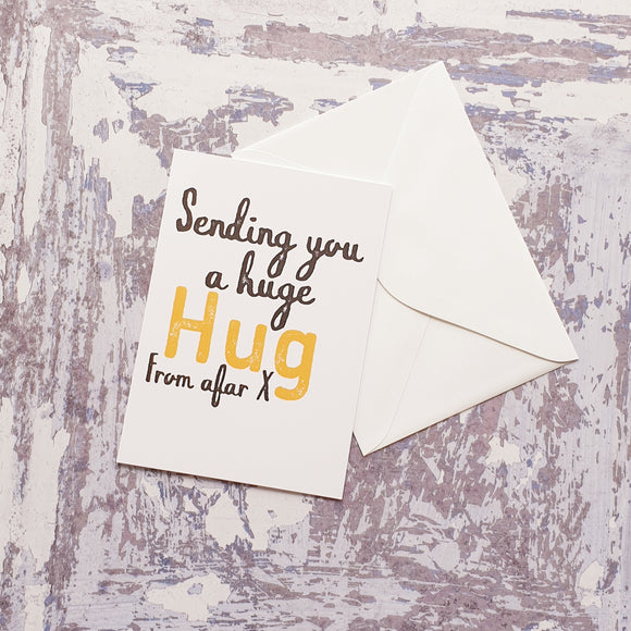 Sending You a Hug from Afar Greeting Card