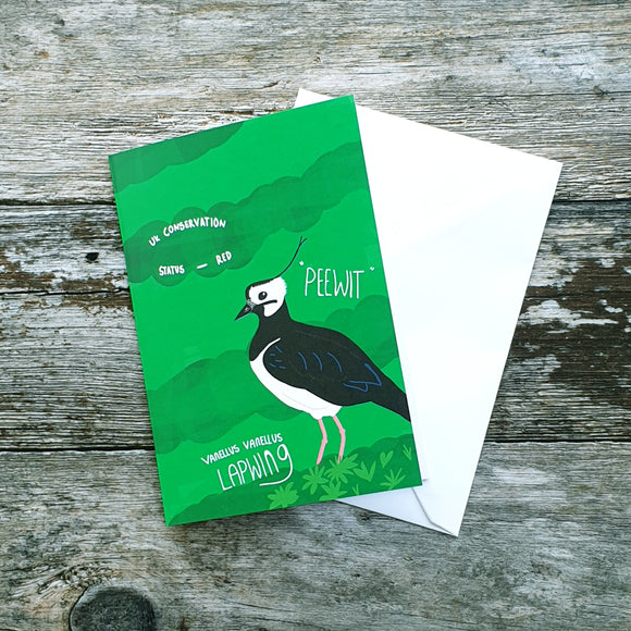 Lapwing Love Notelet Card