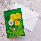 Dandelion Love Notelet Card