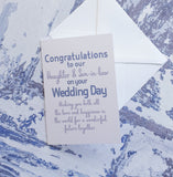 Wedding Congratulations to our Daughter and Son in Law Greeting Card