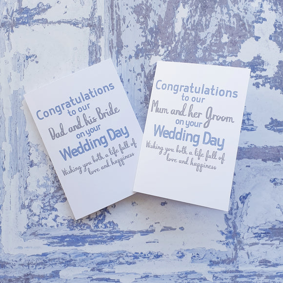 Wedding Congratulations to our Dad and his Bride Greeting Card