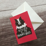 Rescued is my Favourite Breed Notelet Card