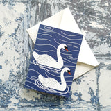 Swan Notelet Greeting Card