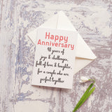 Wedding Anniversary Numbered Greeting Cards