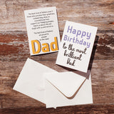Dad Words Greeting Card