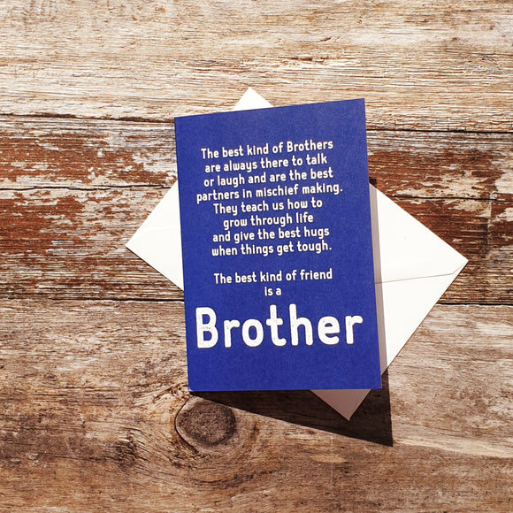 Brother Words Greeting Card