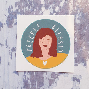 Freckle Blessed 38mm Vinyl Sticker