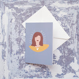 Freckle Blessed Greeting Card