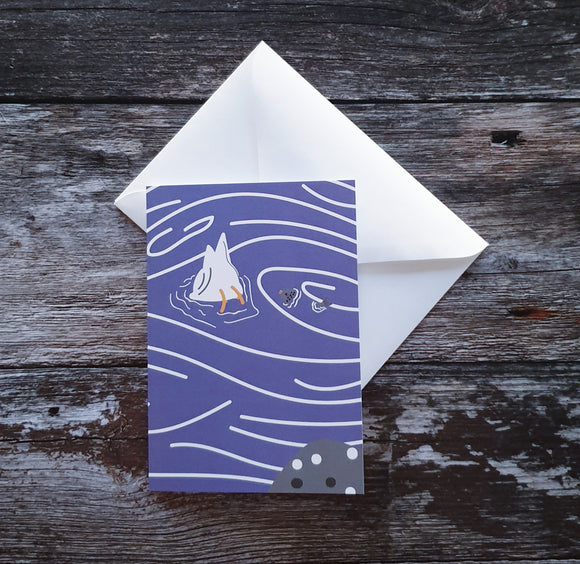 Seagull and Fish Greeting Card