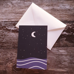 Moonlit Night Greeting Card
