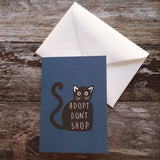 Adopt Don't Shop Cat Greeting Card