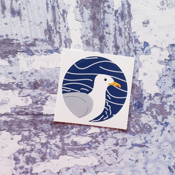 Herring Gull 38mm Vinyl Sticker